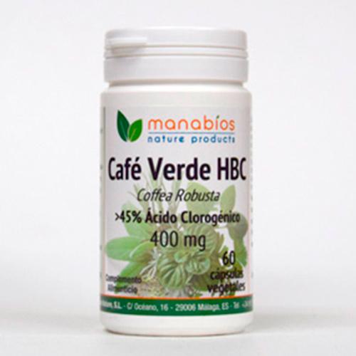 Café Verde 60 cápsulas vegetales Manabios