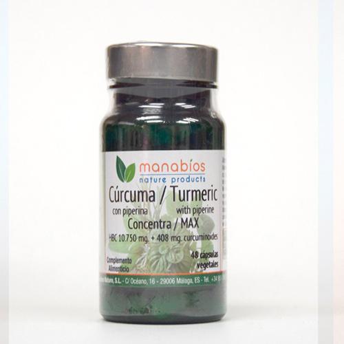 Cúrcuma MAX 48 cápsulas vegetales Manabios