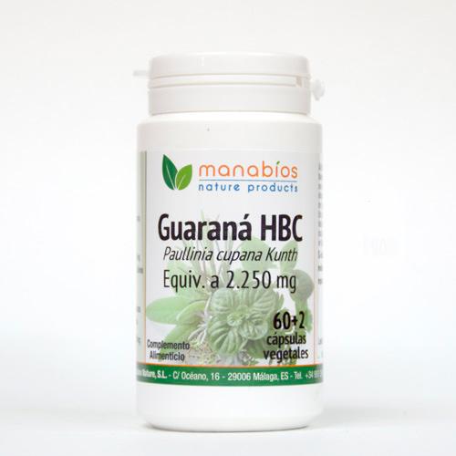 Guaraná HBC 60 cápsulas vegetales Manabios