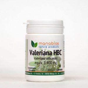 Valeriana 50 cápsulas Manabios
