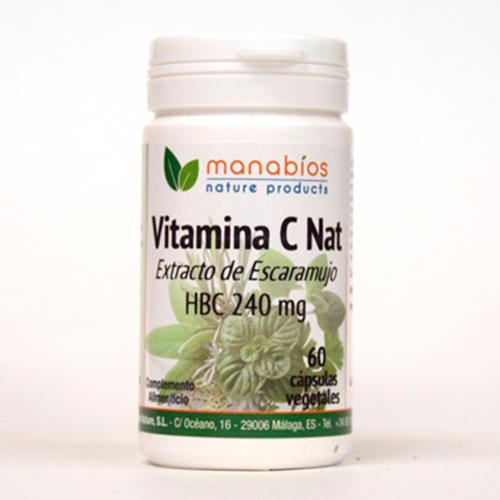 Vitamina C Nat. 60 cápsulas vegetales Manabios