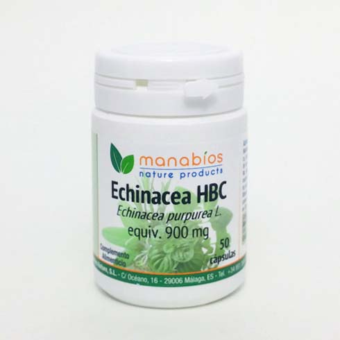 Equinacea Raiz HCB 50 cápsulas. Manabios