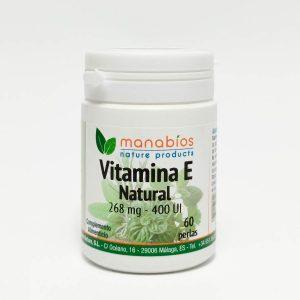 Vitamina E Natural 60 perlas. Manabios